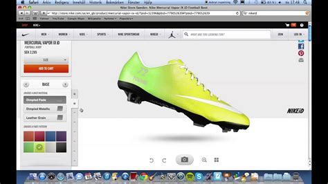 How to make a your own football shoe - NikeID (Swedish