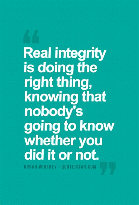 Oprah Winfrey: Real integrity is doing the right thing