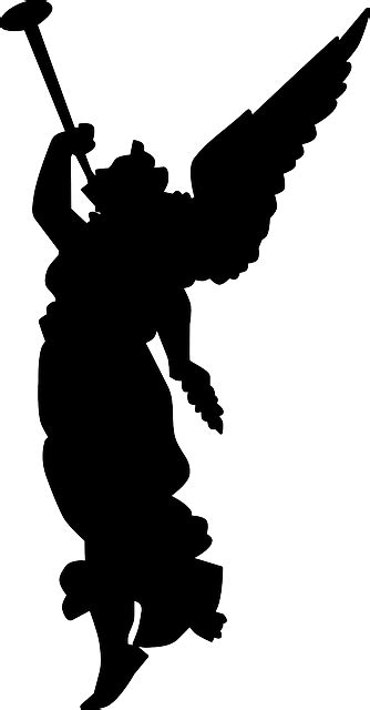 Free vector graphic: Angel, Trumpet, Herald, Silhouette