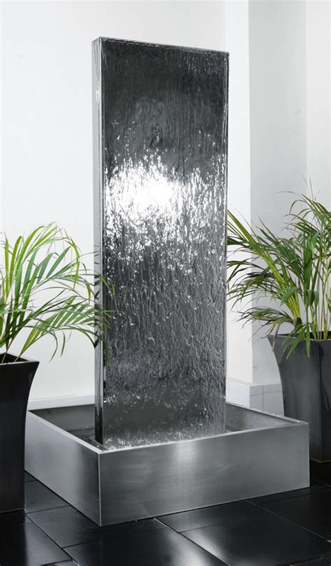 H180cm Double-Sided Vertical Stainless Steel Water Wall