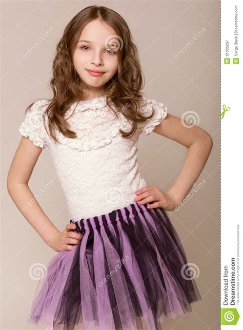 Fashion Little Girl Royalty Free Stock Photography - Image