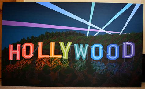 Hollywood Sign Neon Painting by Borbay – BORBAY