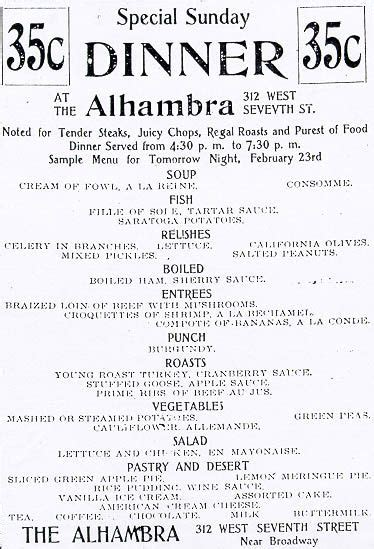 9 Century-old Menus from L