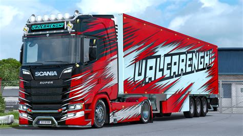 TRUX Paintjobs for Scania S&R New Generation - ETS2 Mod