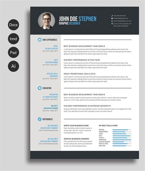 12 Free and Impressive CV/Resume Templates in MS Word