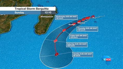 Tropical Cyclone Berguitta MAP: Latest weather maps of