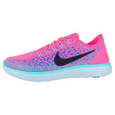 NIKE WOMENS FREE RN DISTANCE RUNNING SHOES HYPER PINK