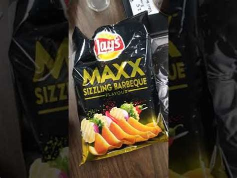 Lays Maxx Sizzling Barbecue Flavour Review - YouTube