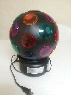 Electric Multi-Color Spinning Disco Globe Ball Rotating