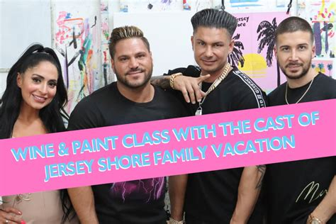 The Cast of MTV's Jersey Shore Family Vacation at a Wine