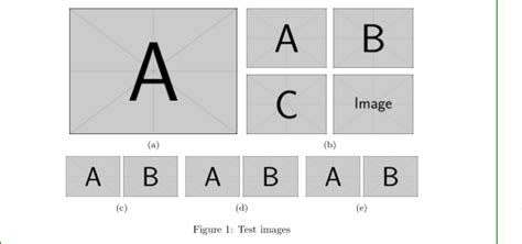 subfloats - Arrange images as tables or subfigure or some
