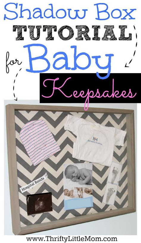 Baby Shadow Box for Keepsakes Step by Step Tutorial