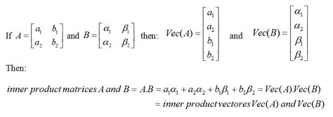 If the inner product of two matrices is zero, what does