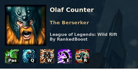 LoL Wild Rift Olaf Counters   Best Counters Olaf is Weak