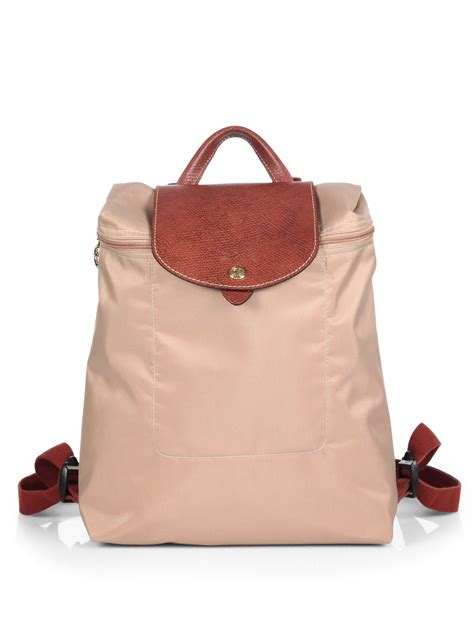 Longchamp Le Pliage Backpack in Beige (Natural) - Lyst