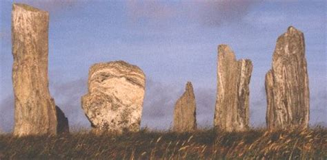 Calanais or Callanish standing stones Isle of Lewis: The
