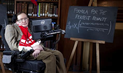 Stephen Hawking unveils formulae for England World Cup