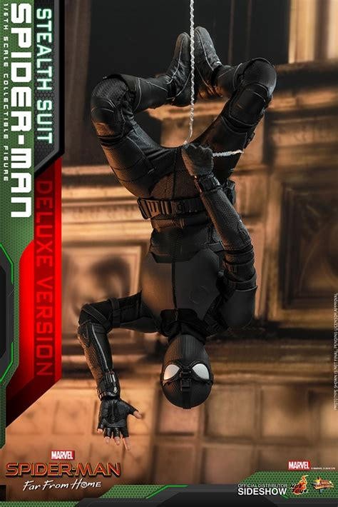 Hot Toys Stealth Suit Spider-Man Deluxe 1/6 Figure! Molten