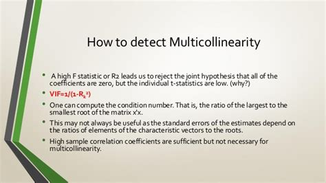 Multicollinearity, Causes, Effects, Detection and Redemption