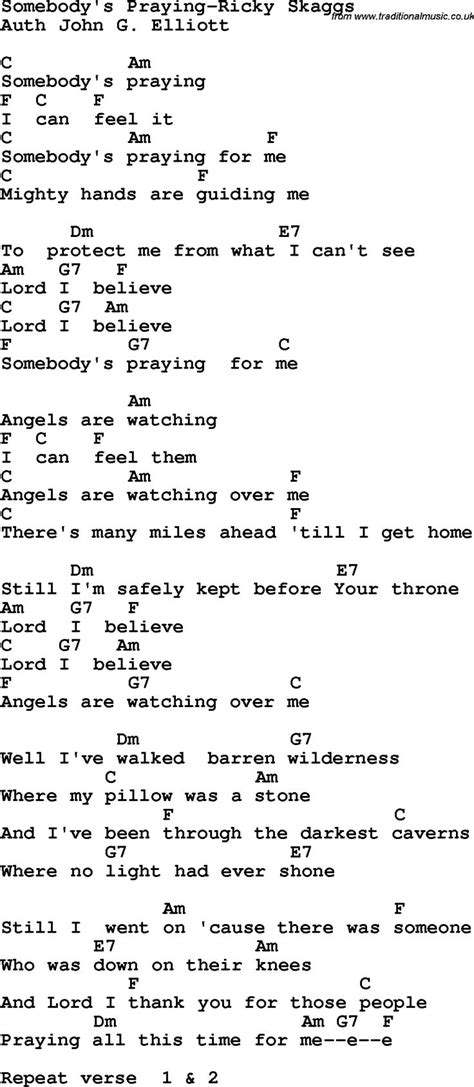 Country, Southern and Bluegrass Gospel Song Somebody's